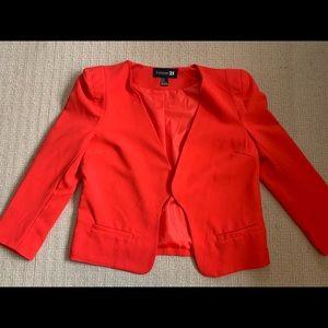 Hot red blazer